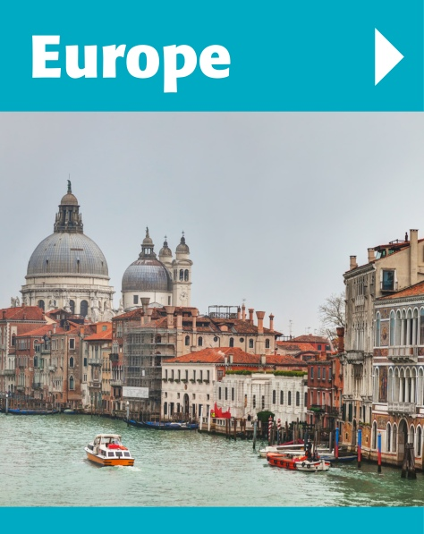 We have hundreds of destinations in Europe