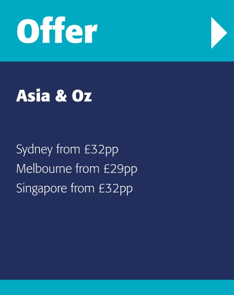 Fantastic savings and deals for holidays in Asia and Australia